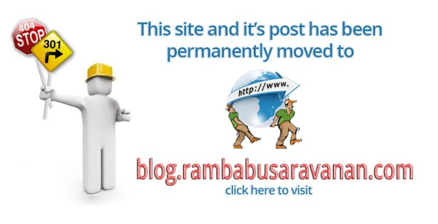This blog has been moved. Please click to open the post in blog.rambabusaravanan.com